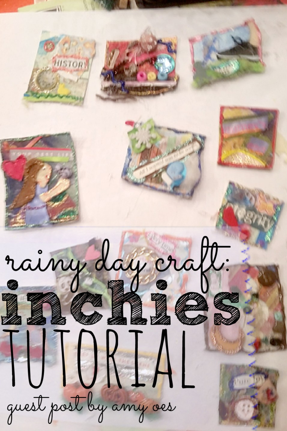 Looking for a fun project to help you destress or keep the kids busy? Make some inchies and talk about expressionism!