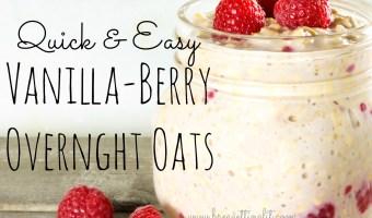 Quick & Easy Vanilla-Berry Overnight Oats
