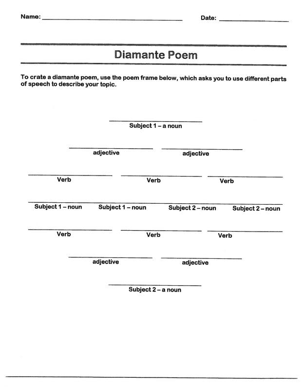 Diamante Poem B R E A K