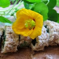 Nasturtium-leaf Sandwiches