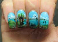hand painted nail art | Break rules, not nails