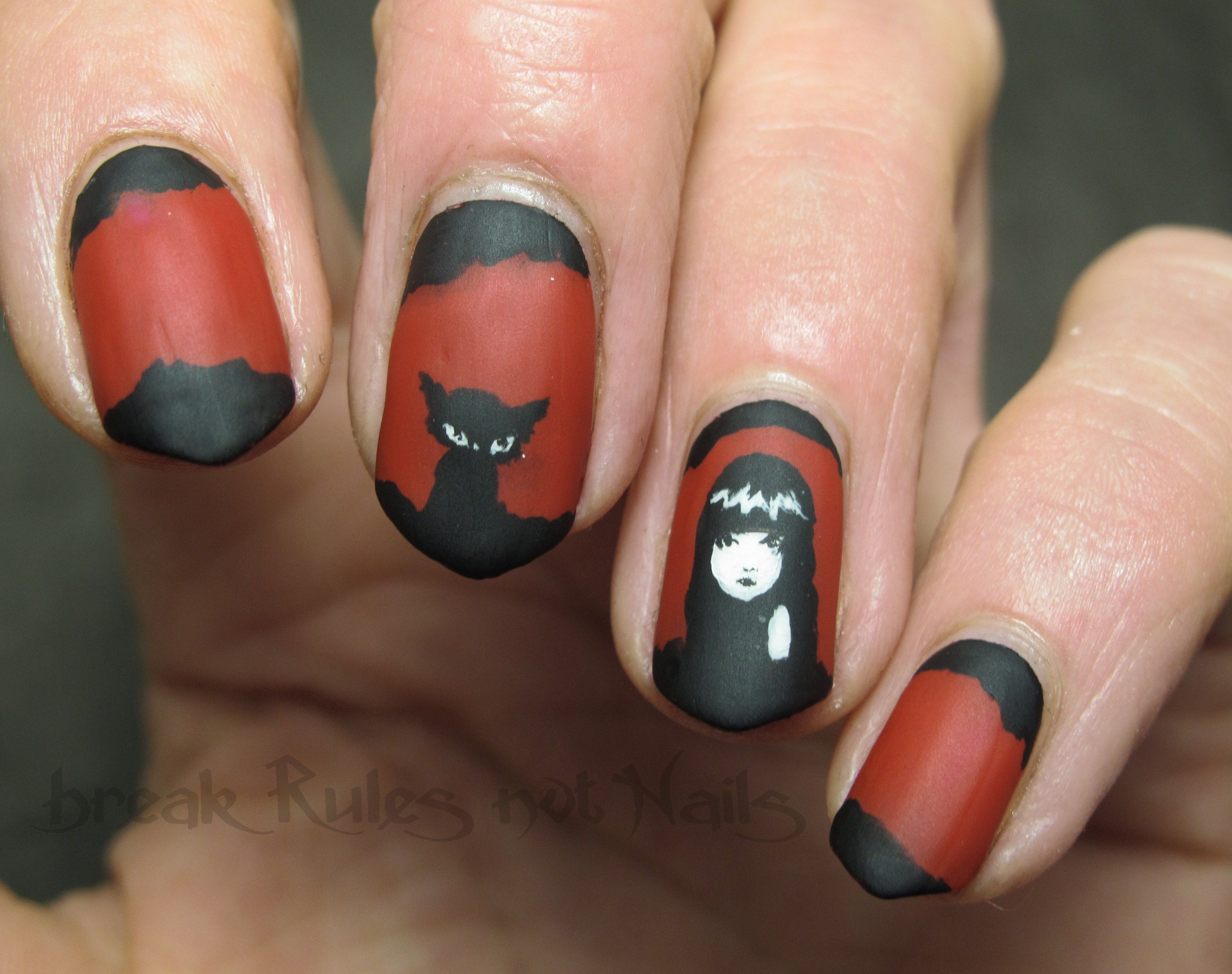Hand Painted Nail Art Break Rules Not Nails