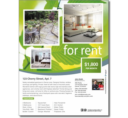 Natural For Rent Flyer - for rent flyer template