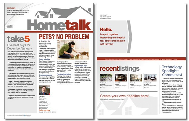 Hometalk Newsletter Template Volume 2, Issue 11