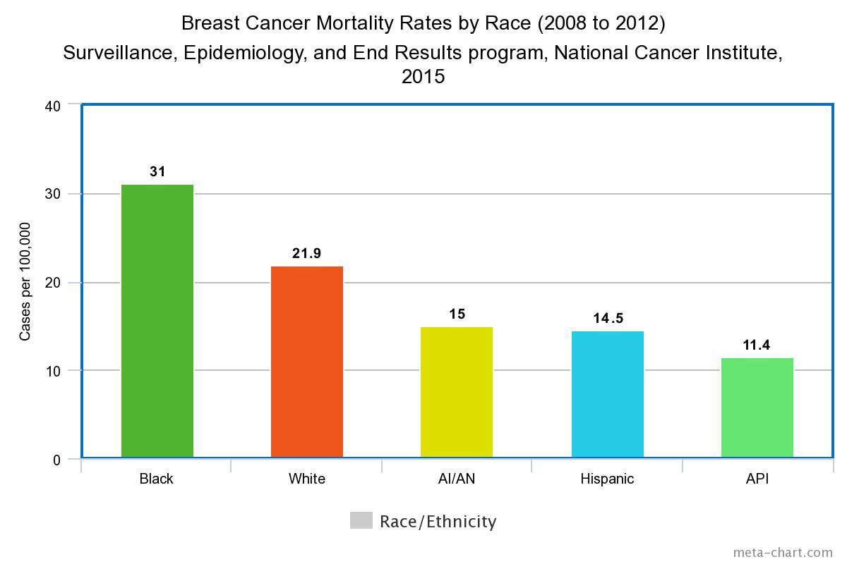 Prevalence Graph Breast Cancer Mortality By Race Incidence And Survival Rates