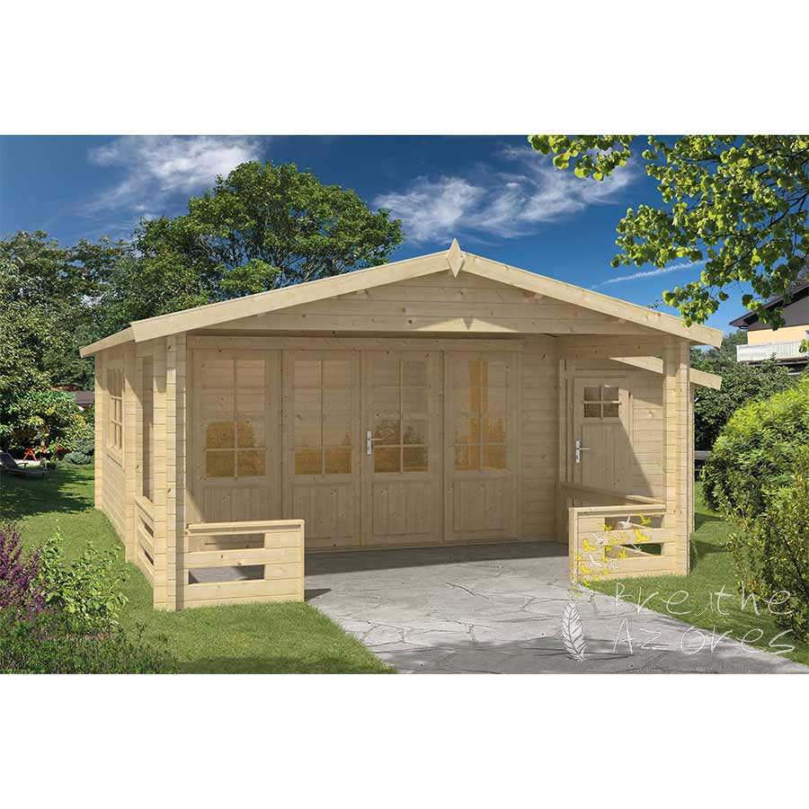 Embadecor W Coventry Log Cabin With Large Covered Terrace