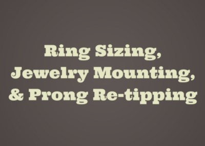 Ring Sizing
