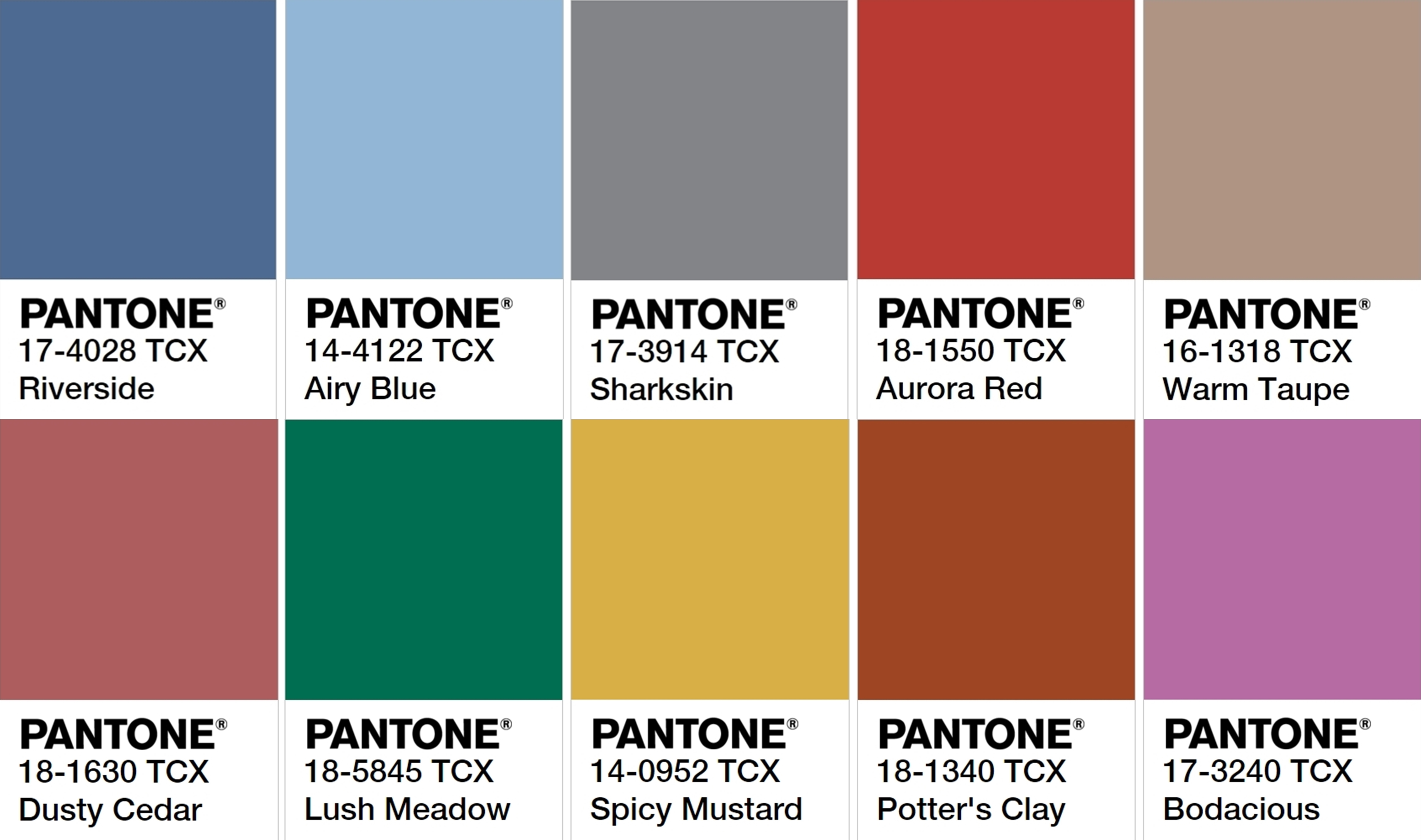 Pantone 2017 The Most Popular Colors For Fashion This Fall Breezles