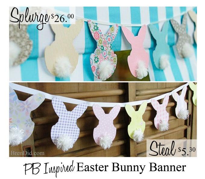 BrenDid PB Inspired Easter Bunny Banner
