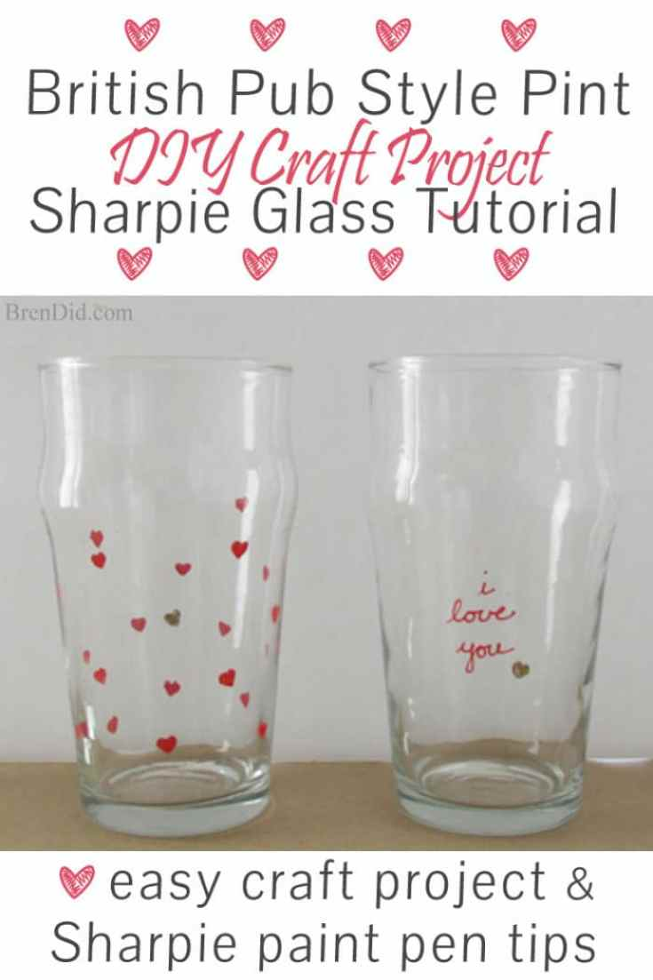 Sharpie pint glass tutorial diy craft project bren did for How to decorate wine glasses with sharpies
