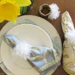 Easter Bunny Tails Napkin Ring DIY