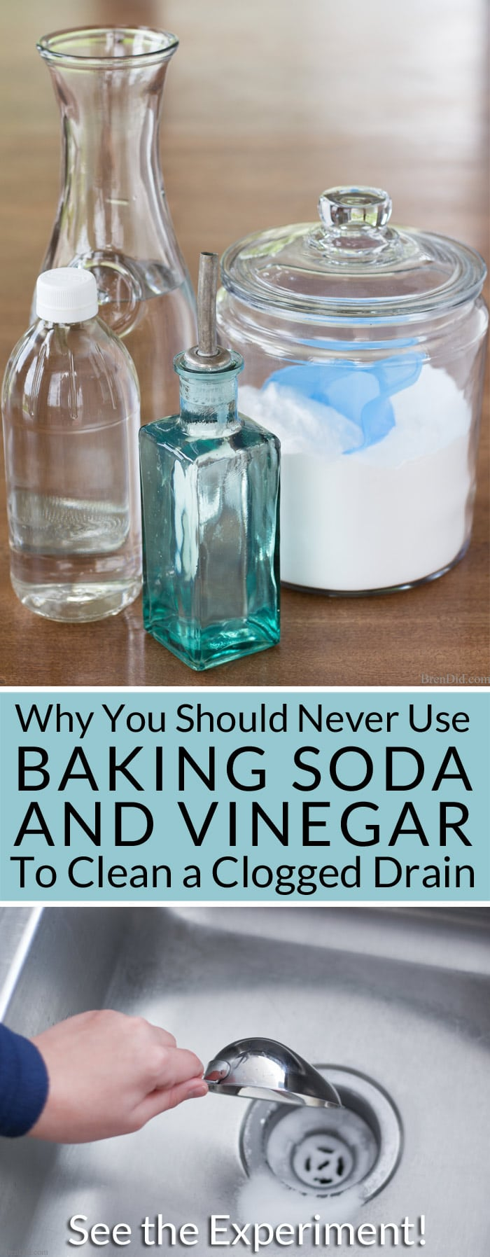 Why You Should Never Use Baking Soda And Vinegar To Clean Clogged Drains Bren Did