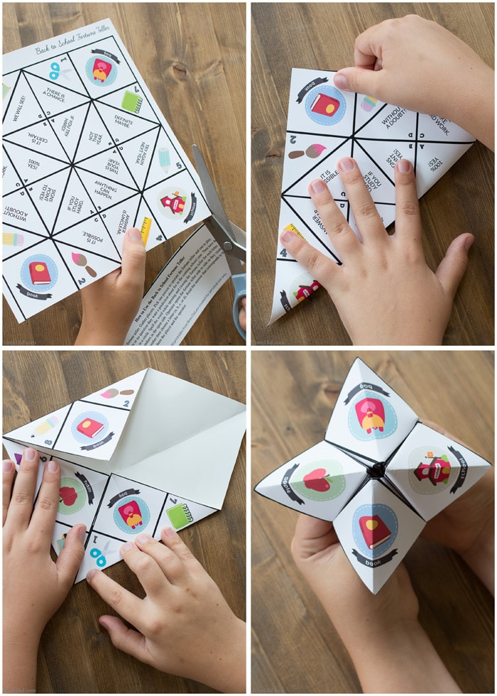 Back to School Paper Fortune Teller for Kids - Bren Did