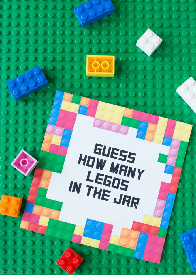 Free Printable Lego Party Game Guess the Number of Legos - Bren Did