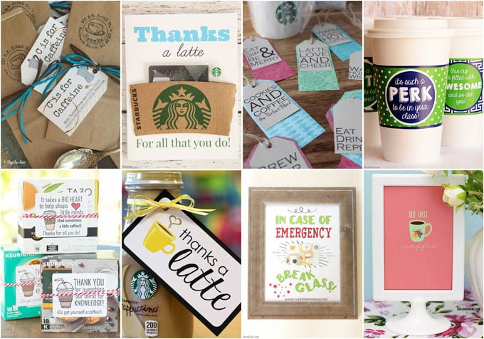 10 Free Printable Coffee Gifts for Teacher Appreciation