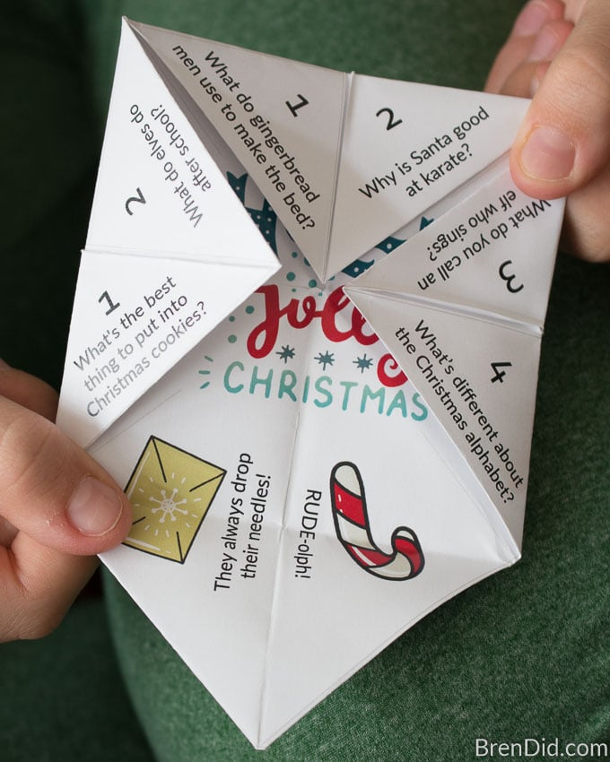 Christmas Joke Teller (Fortune Teller) for Kids - Bren Did