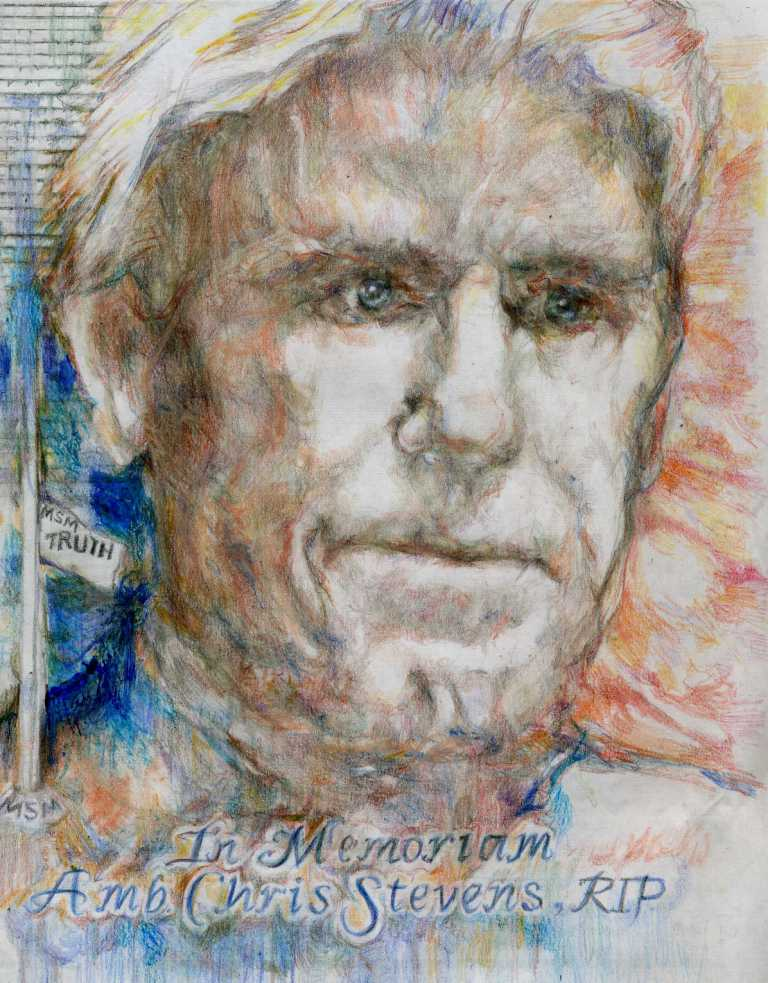 &quot;In Memoriam, Ambassador Chris Stevens&quot; Artist: Katherine Trunk