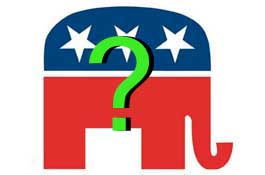 GOP Republican elephant question mark