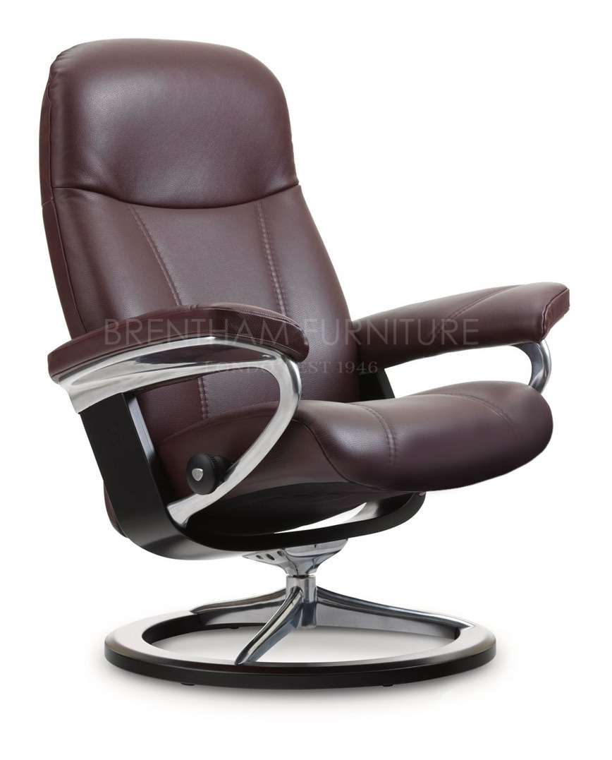 Stressless Consul L Stressless Consul Small Chair With Signature Base No Stool
