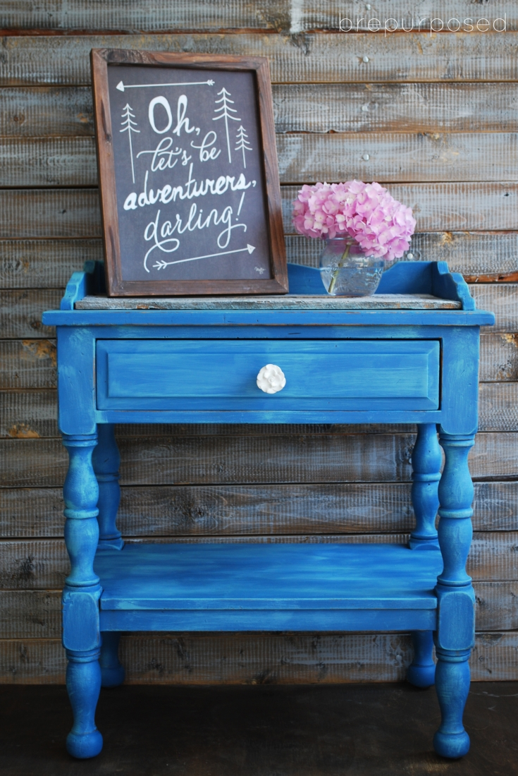 Muebles Lar Table Transformation With Custom Blue Chalk Paint - The