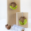 Mini Moss Wreath Gift Toppers :: Monthly DIY Challenge