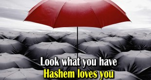 Look what you have | Hashem loves you