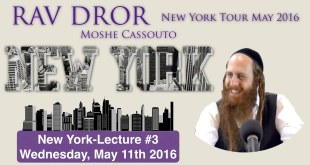 Rav Dror NY Tour | Lecture #3 | Lawrence