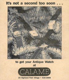 From the vintage files... It might actually be a few decades too late to get that antique watch now...
