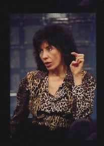 Lily Tomlin, On The Line. Sometime in the 90′s. Print from video
