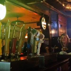 Tap handles at Union Jacks pub