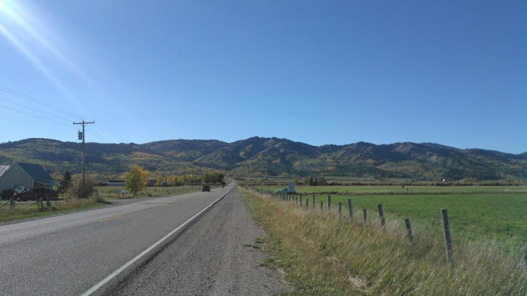 The road out of Victor, Idaho.