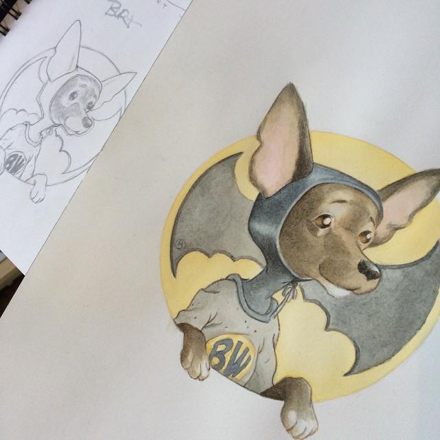 Bat Dog   Pet Portrait