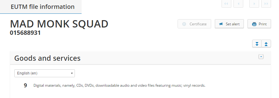 MAd Monk Squad Trademark