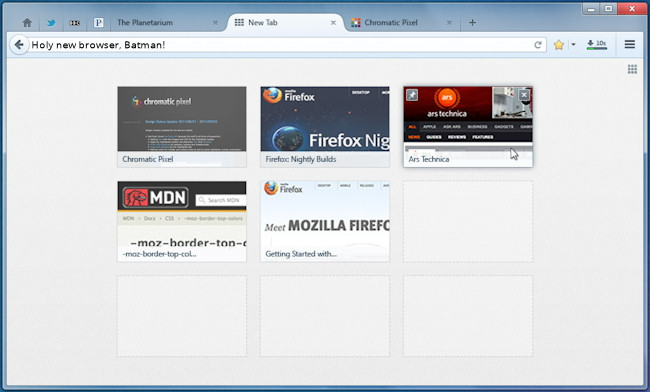 Firefox Australis features upcoming