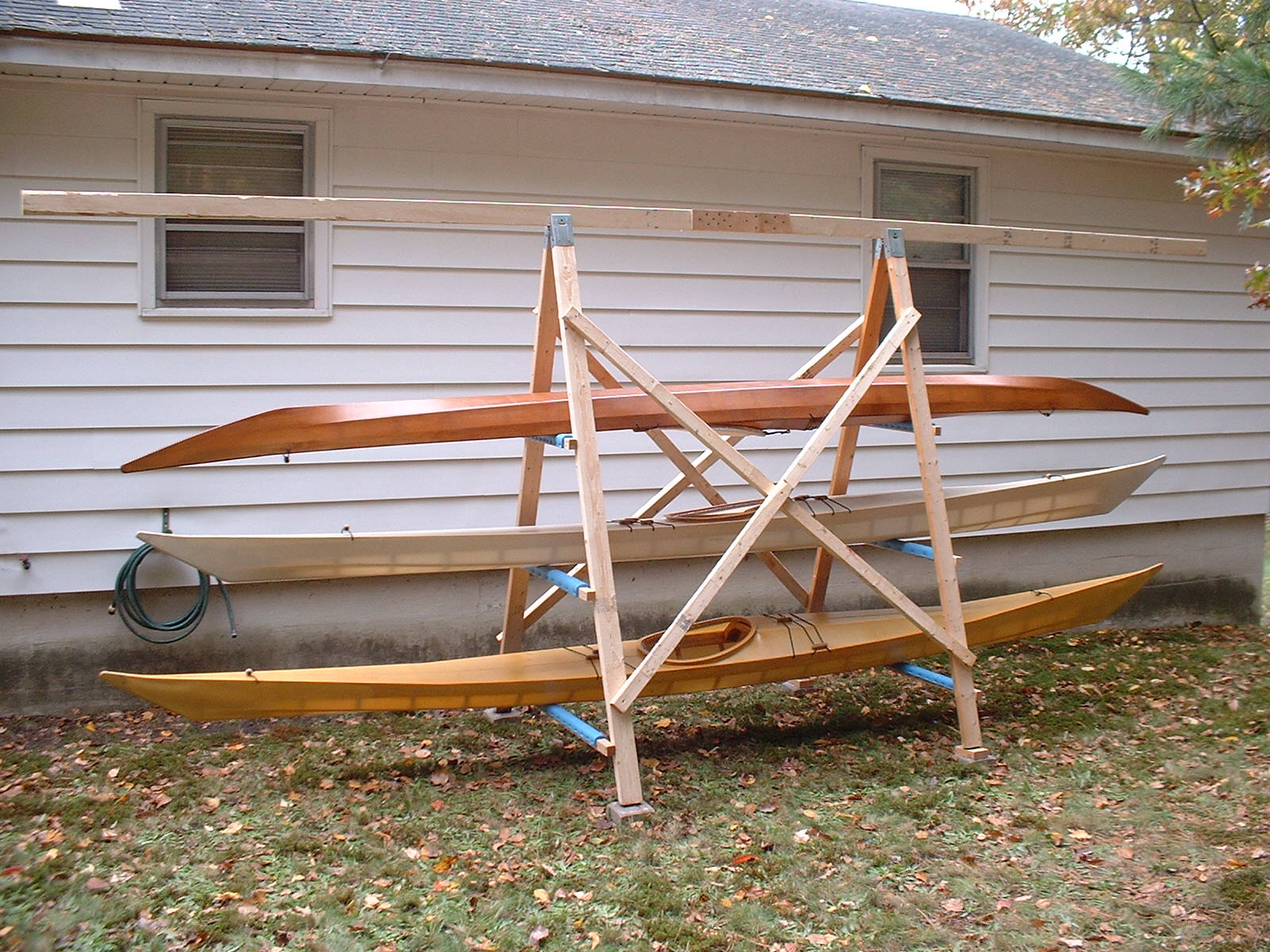 A Simple A Frame Kayak Storage Rack Briannystromcom