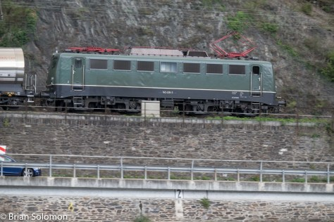 By panning, I've improved the visual separation between the locomotive and the background.