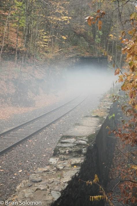 The tunnel began to breath a weird mist.