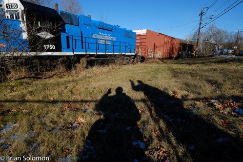 Must all railroad photos be serious? Mass-Central's crew are friendly, so we gave them a passing wave. I was multitasking, by waving and photographing at the same time. Photo exposed with my Zeiss 12mm Touit.