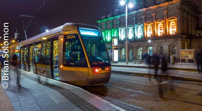 Dublin's Heuston Station Lit for St. Patrick's Day 2016.