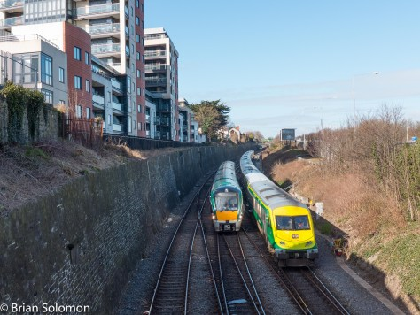 The Gullet is the three track section in a cutting on approach to Islandbridge Junction in Dublin.