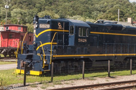 This preserved Chesapeake & Ohio GP7 was on display at Clifton Forge, Virginia.