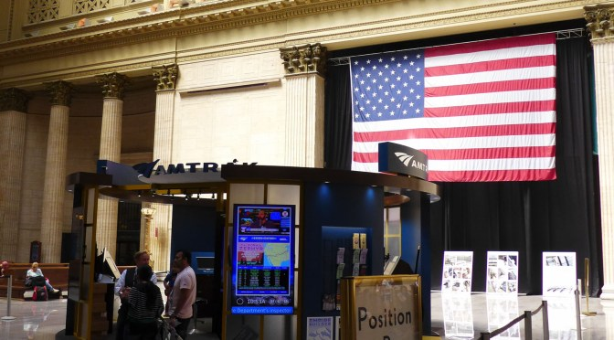 Chicago Union Station; July 2016-Five Photos.