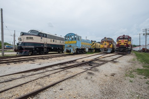 It's like Galesburg Railroad Days! The BN executive Fs! Always cool.