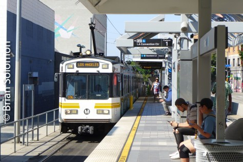 At Pico, the Expo Line shares platforms with the Blue Line (that runs to Long Beach). Careful, you might board the wrong car!