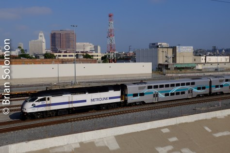 At the back of 607 is a Metrolink MP36PH diesel.