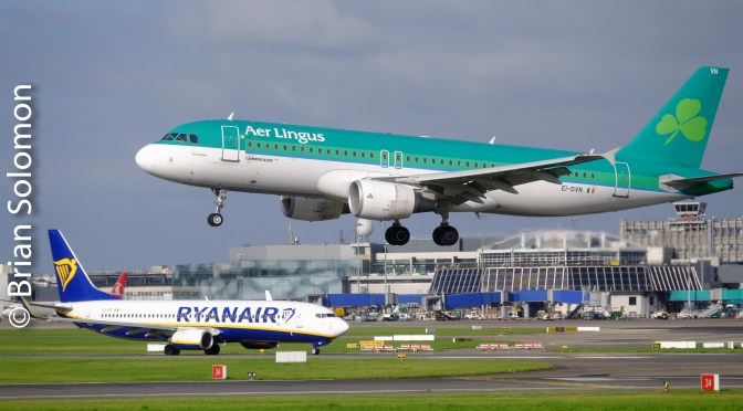 Dublin Airport: Colourful Contemporary Jets with a September sky—Lots of Photos!