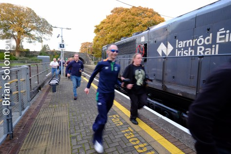 Running for the train at Thurles.