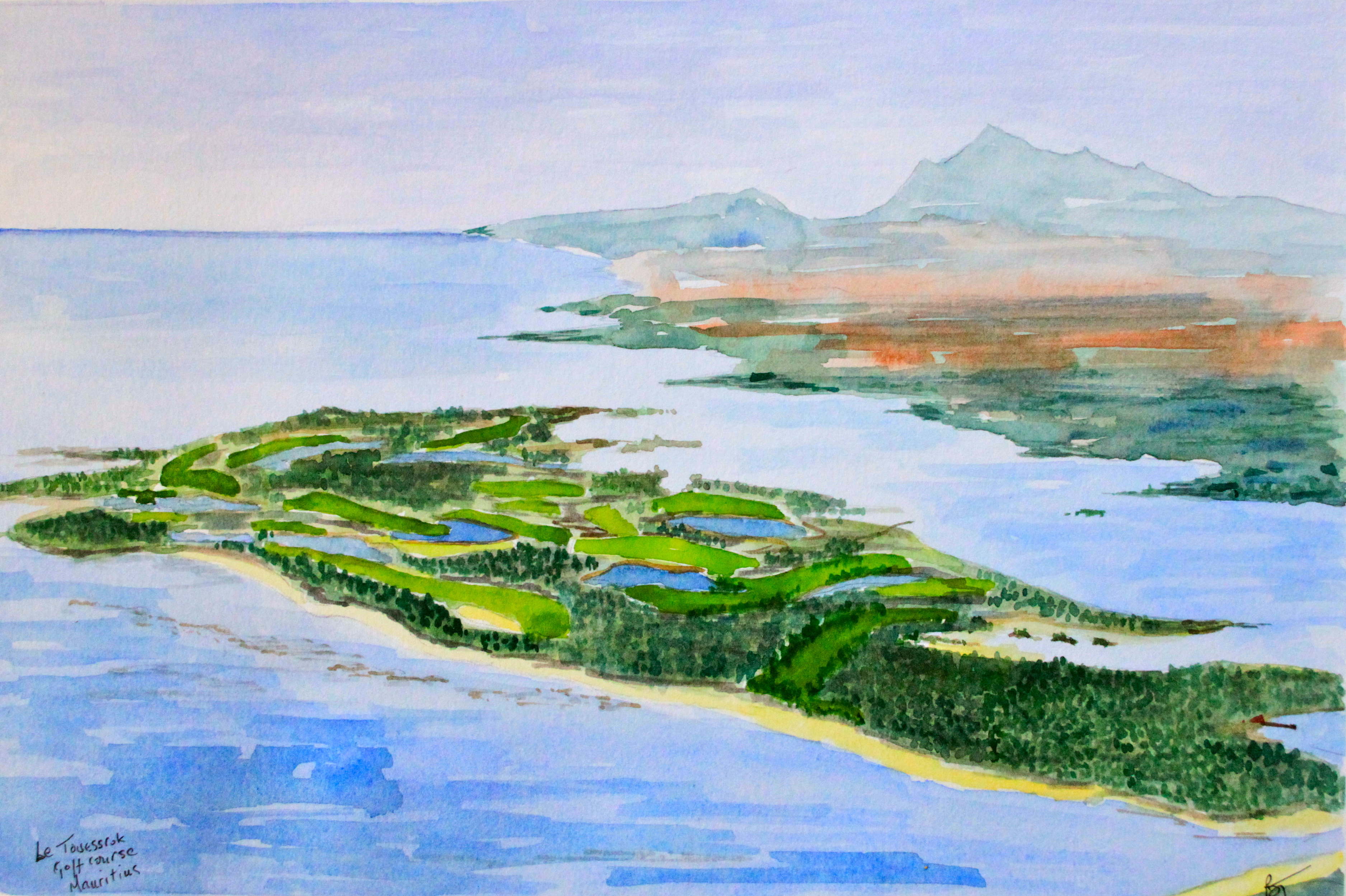 La Cucina Pylos Menu Golf Courses Brian S Watercolours