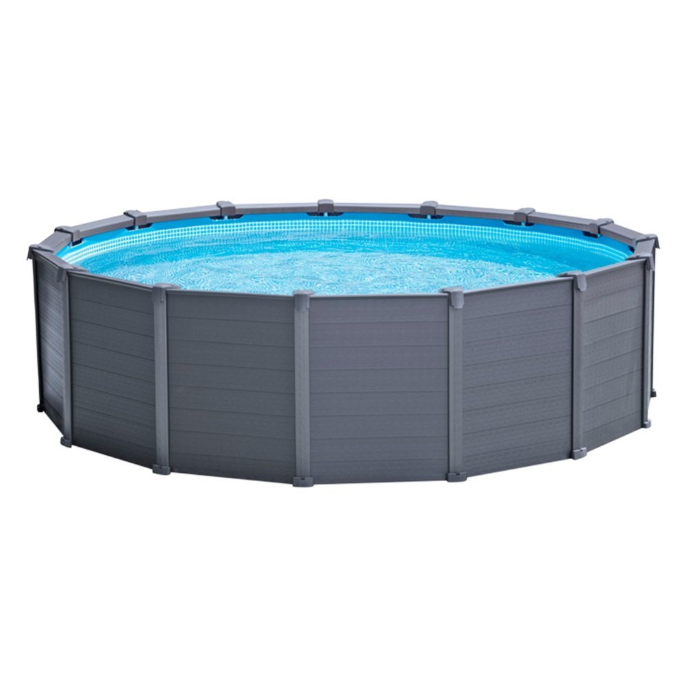 Piscina Rigida Piscina Fuoriterra Rigida Sequoia Graphite Intex Cm 478x124