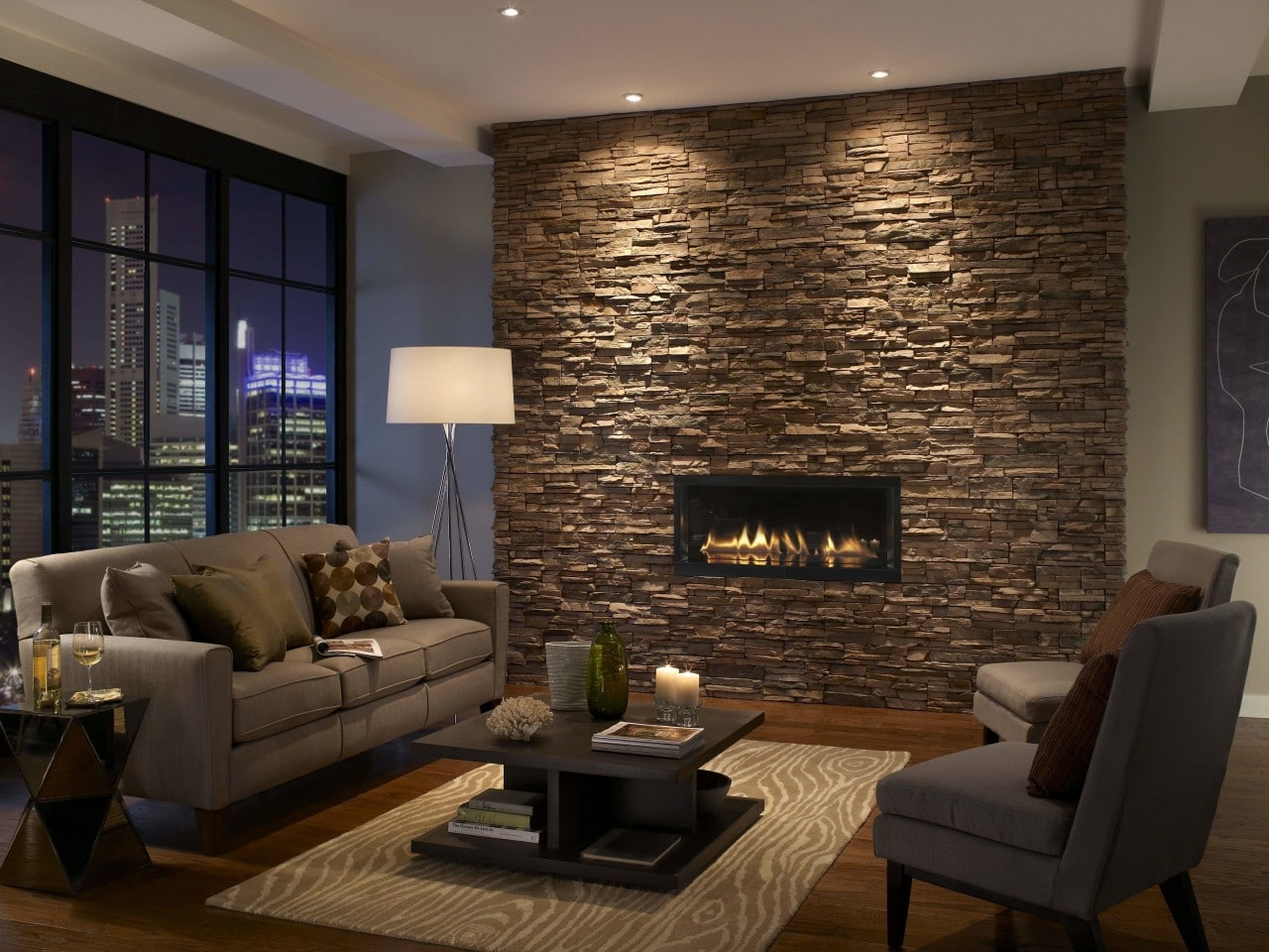 Accent Stone Wall Stacked Stone Brick America